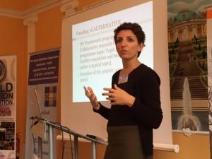 Inge Vanfraechem presents project ALTERNATIVE at the Symposium